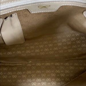 Anya Hindmarch Bags - ANYA HINDMARCH SIGNATURE EMBOSSED TAUPE LEATHER